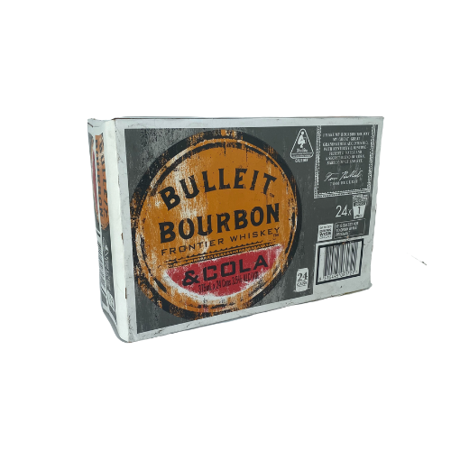 Bulleit Bourbon & Cola 24x375ml can